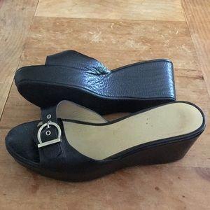 Salvatore Ferragamo Slide Platform Sandals